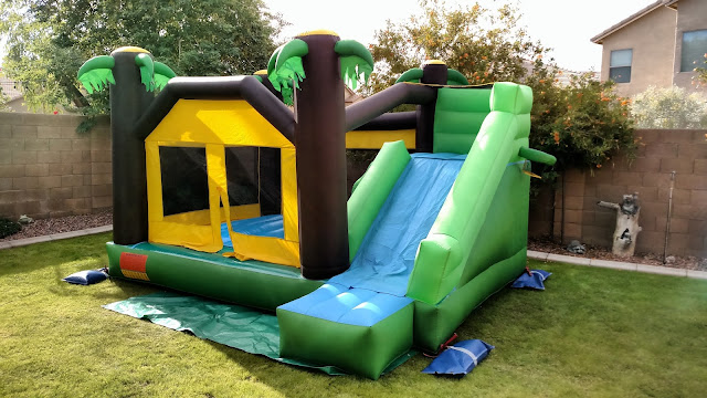 Tropical toddler bounce house rentals with slide AZ