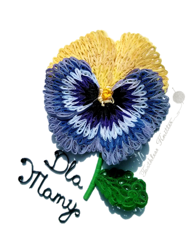 Quilled Paper Pansy