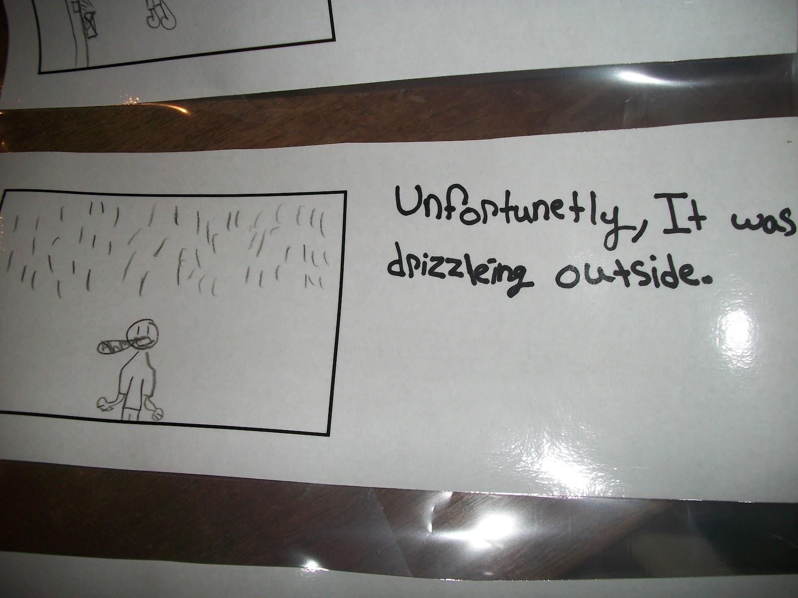 fortunately unfortunately writing activities