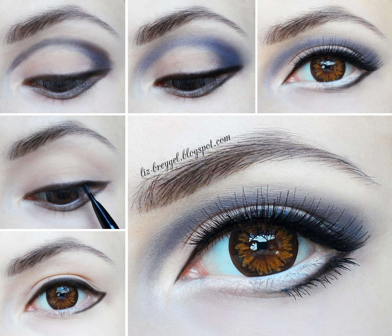 Big Anime Eyes Step By Step Makeup Tutorial by Liz Breygel on Janaury Girl blog
