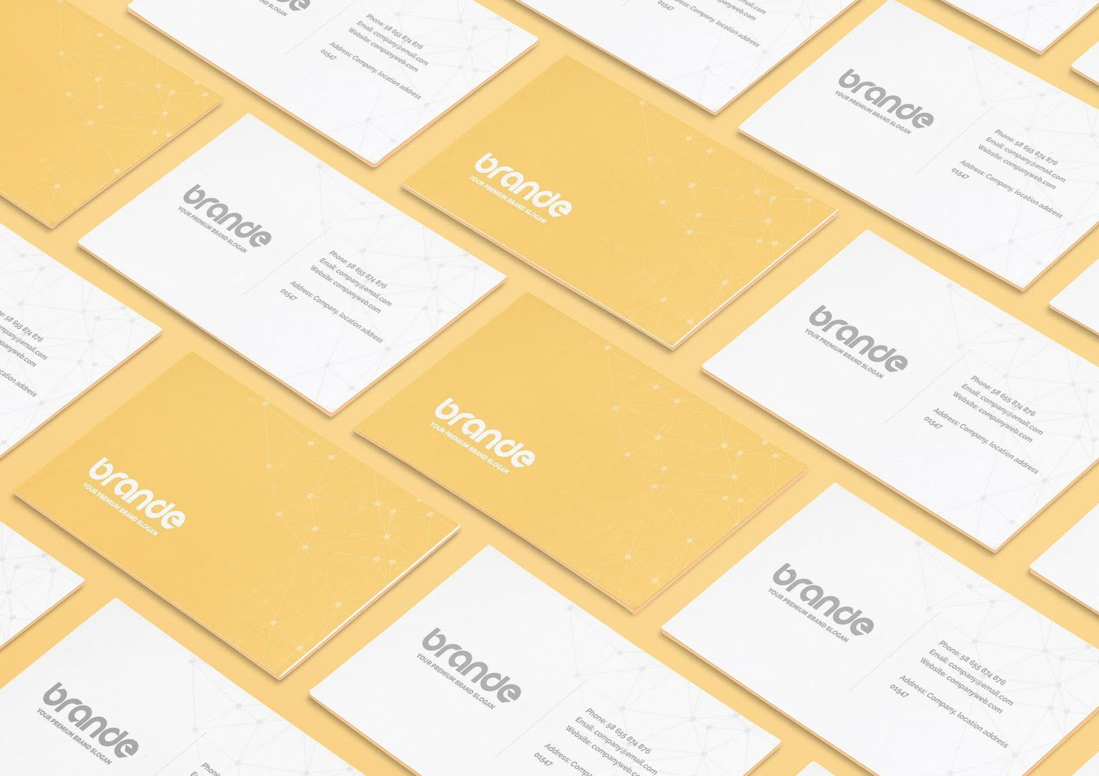 Business Card Perspective Mockup