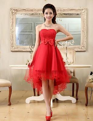 diseños de Vestidos Cortos con Cola