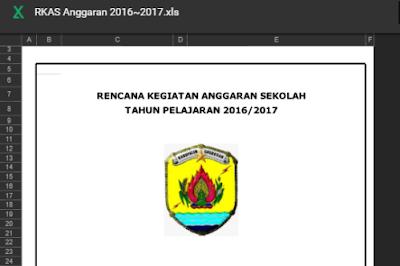 Aplikasi RKAS untuk SD sesuai Juknis BOS