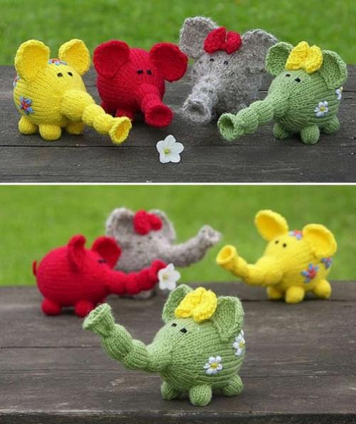 Flower Power Elephants - Free Pattern