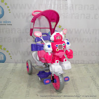 Sepeda Roda Tiga Family F845FT Robot Suspensi Dobel Musik Bintang Ban Jumbo