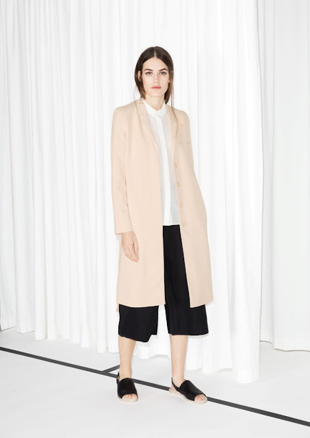 pink trench coat, stories trench coat,