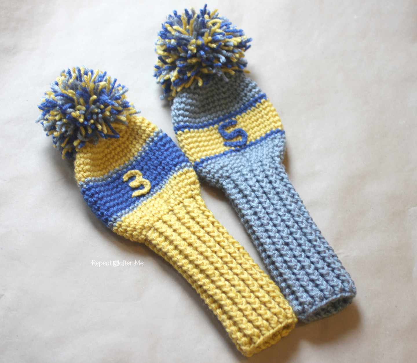 Knitting Patterns For Golf Club Headcovers : Crochet Golf Club Cover Pattern - Repeat Crafter Me