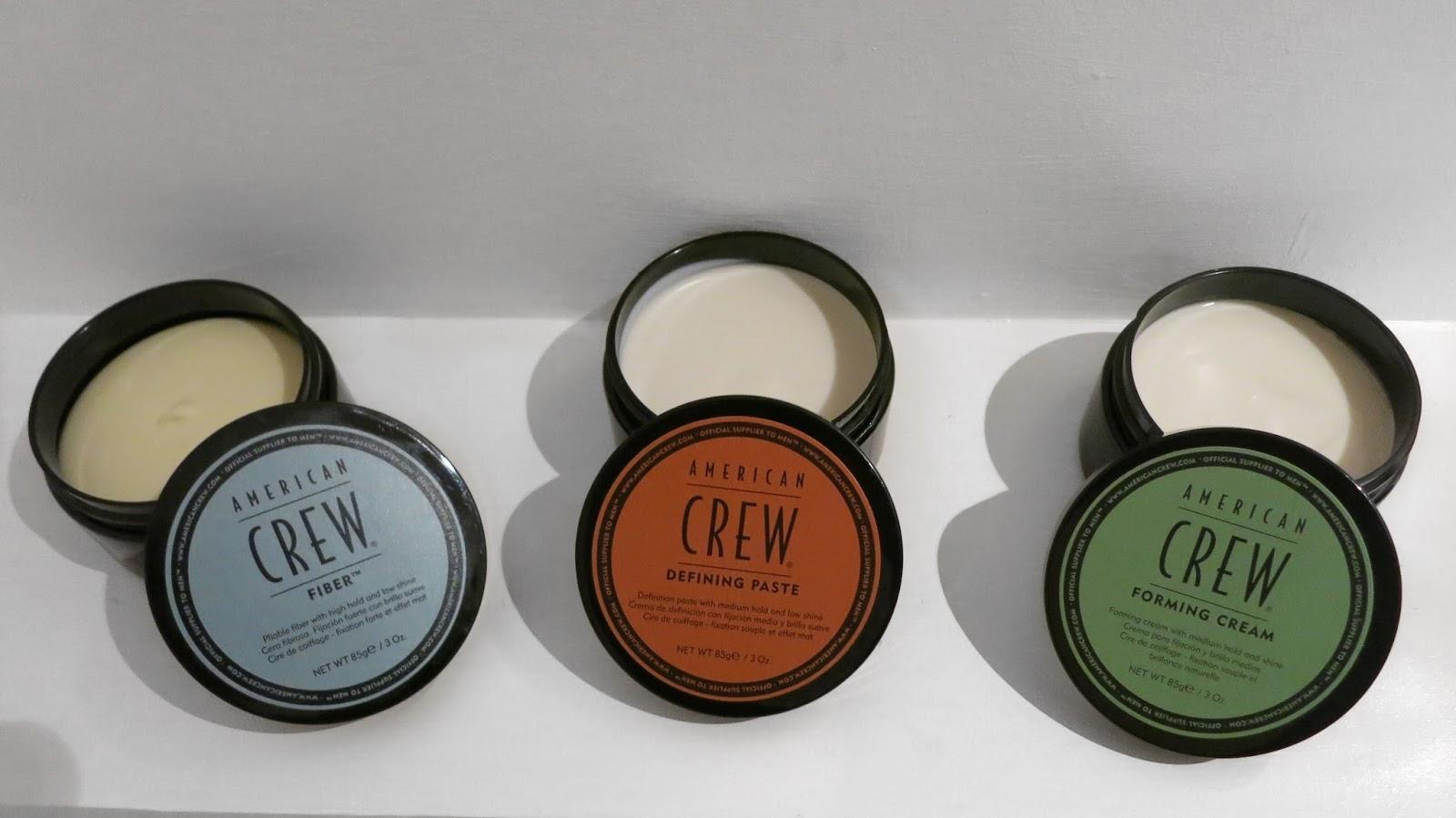 american crew fiber, defining paste and forming cream