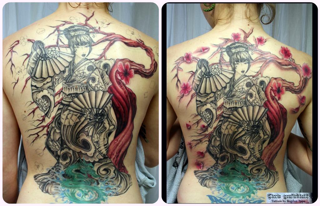 Fotos De Tatuagens Femininas Tatuagem De Gueixa Ii