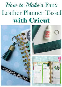 Personalize your Illustrated Faith Agenda Planner with a Faux Leather DIY Tassel made with Cricut.
