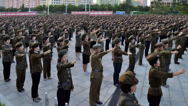 Unos 3,5 millones de norcoreanos quieren luchar contra EEUU