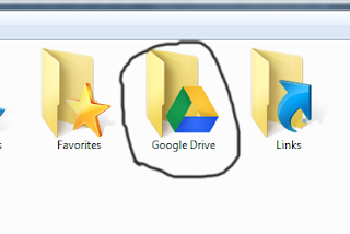 Google Drive folder created in the system by the App to sync your files