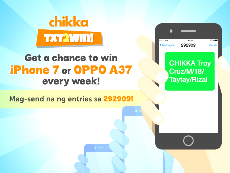 Chikka Treats Filipinos With TXT2WIN Promo!