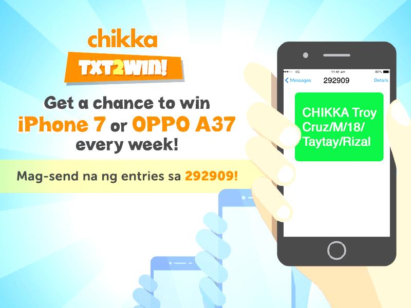 Chikka Treats Filipinos With TXT2WIN Promo!