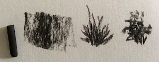 using Willow charcoal for creating different marks By Manju Panchal