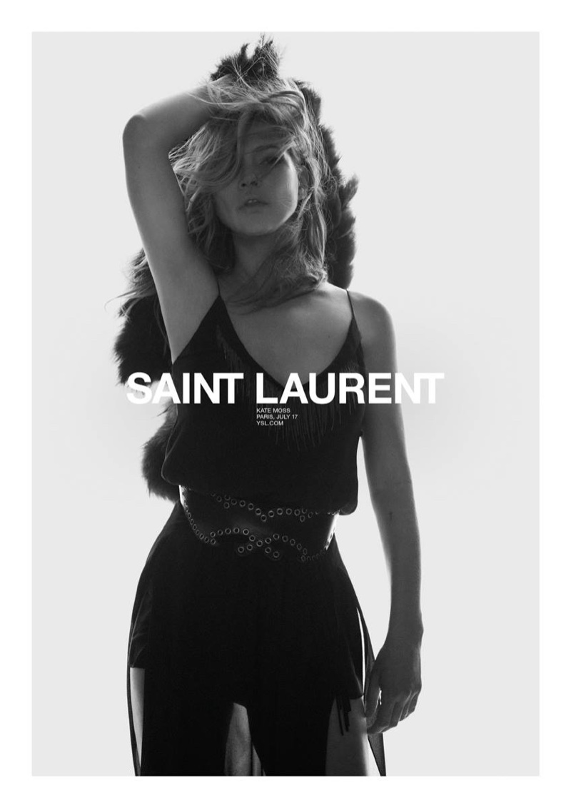 Kate Moss stars in Saint Laurent's spring 2018 campaign