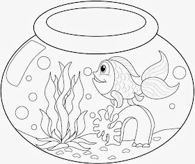 Goldfish Coloring Pages A The Goldfish Coloring Pages For Kids Or ...   236x280