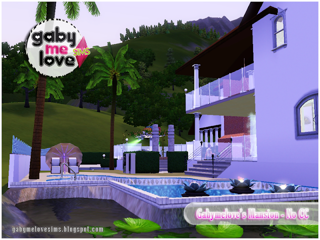 Gabymelove's Mansion |NO CC| ~ Lote Residencial, Sims 3. Piscina.
