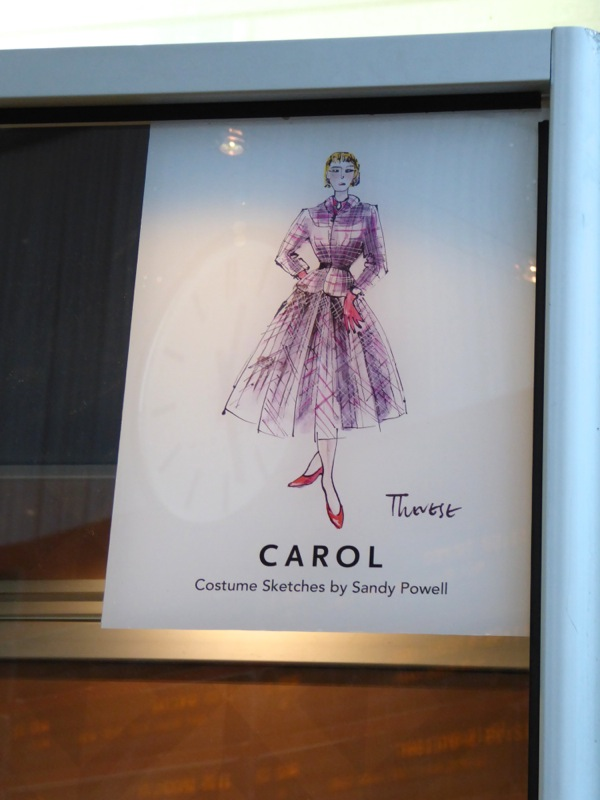 Carol movie costume sketch Sandy Powell