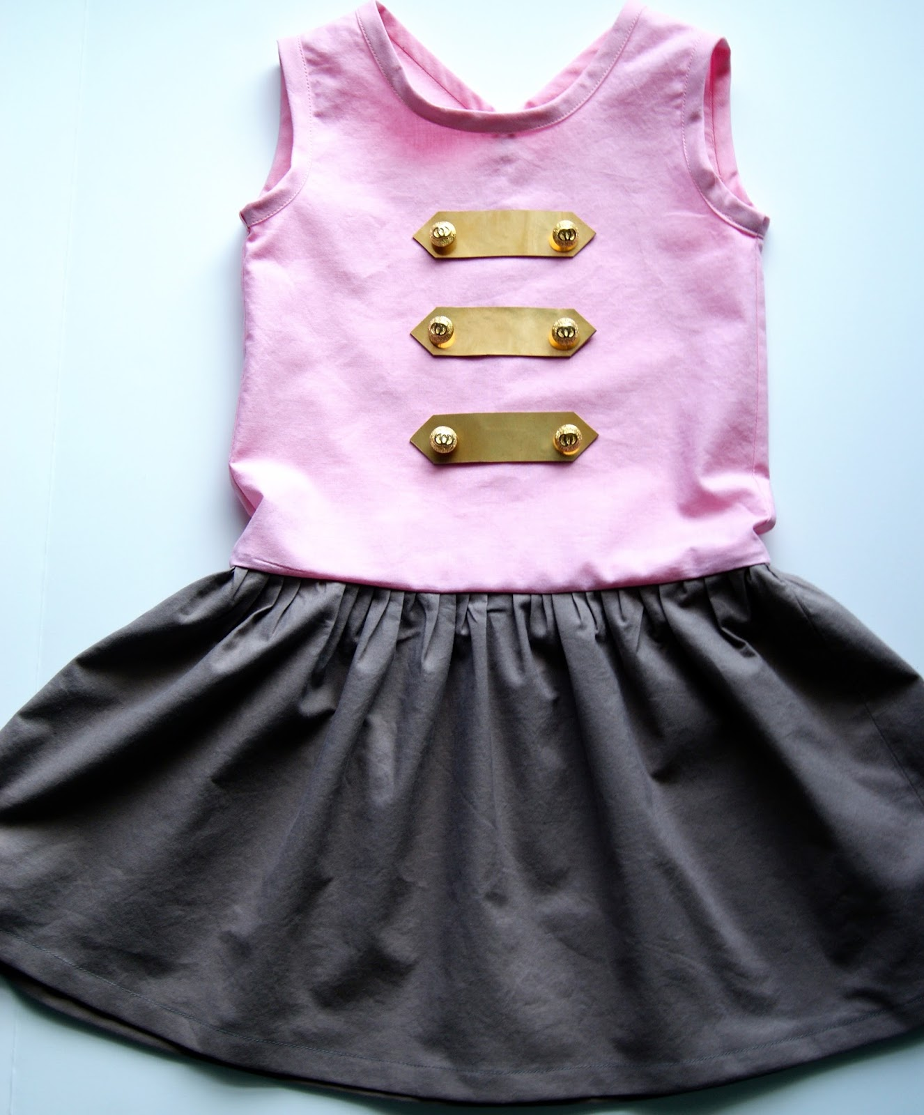 Sailor Button Dress by nestfullofeggs