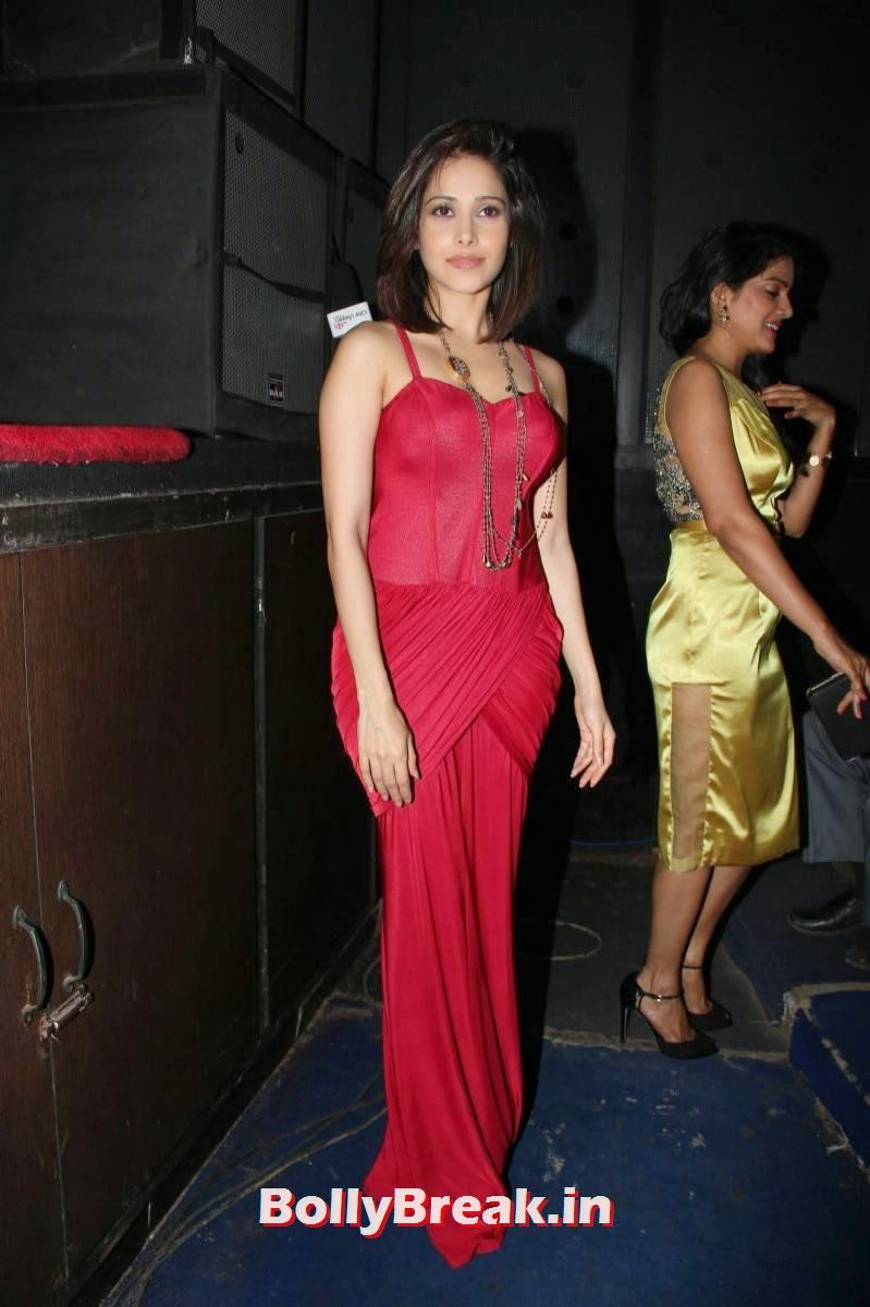 , Actress Nushrat Bharucha Hot Photos in Red without Sleeve Dress