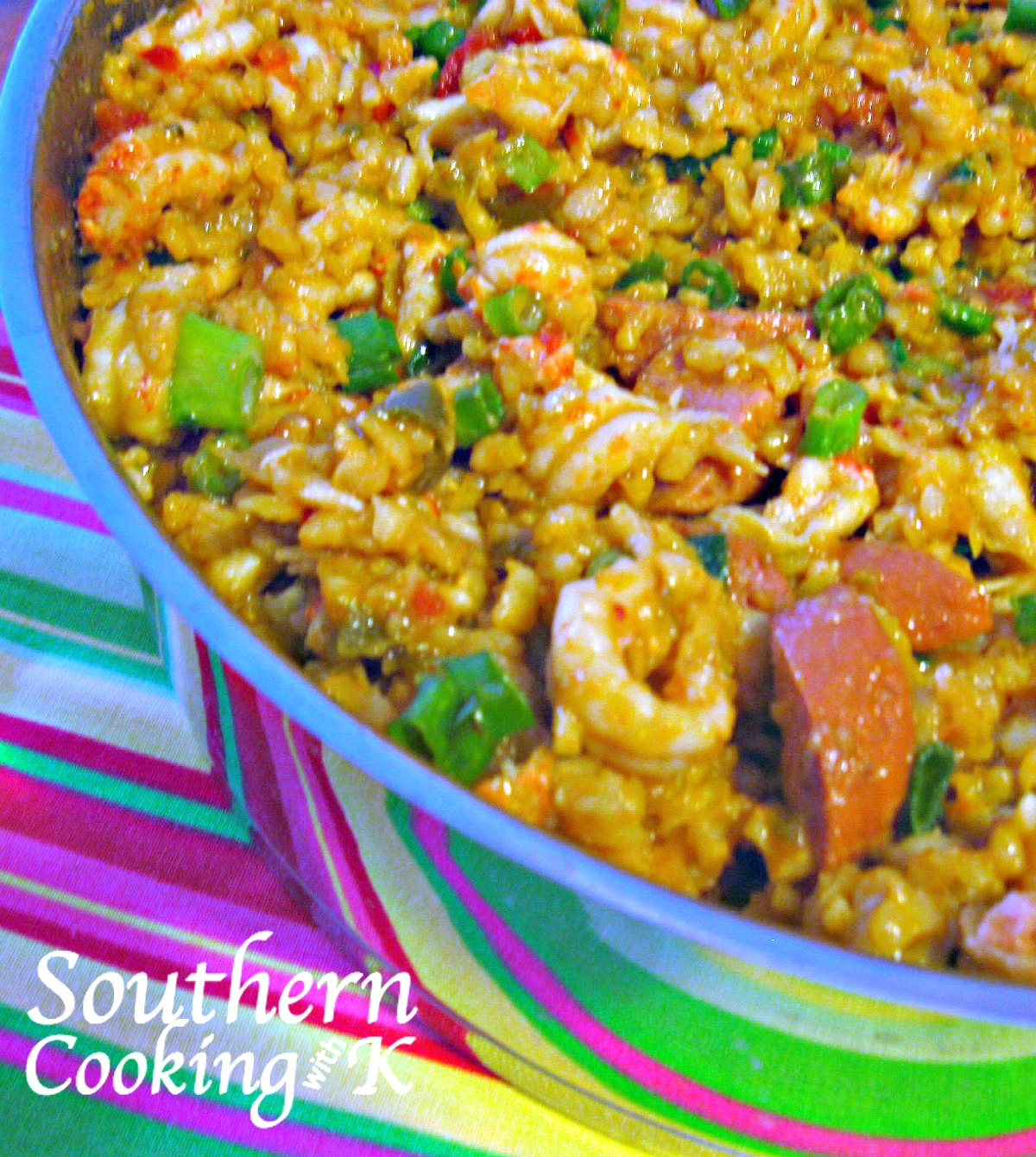 Cooking with k spicy crawfish jambalaya a cajun dish that is sure this weekend we had our yearly cemetery associate meeting aka family reunion which includes a potluck dinner afterwards i always try to take two or three forumfinder Choice Image