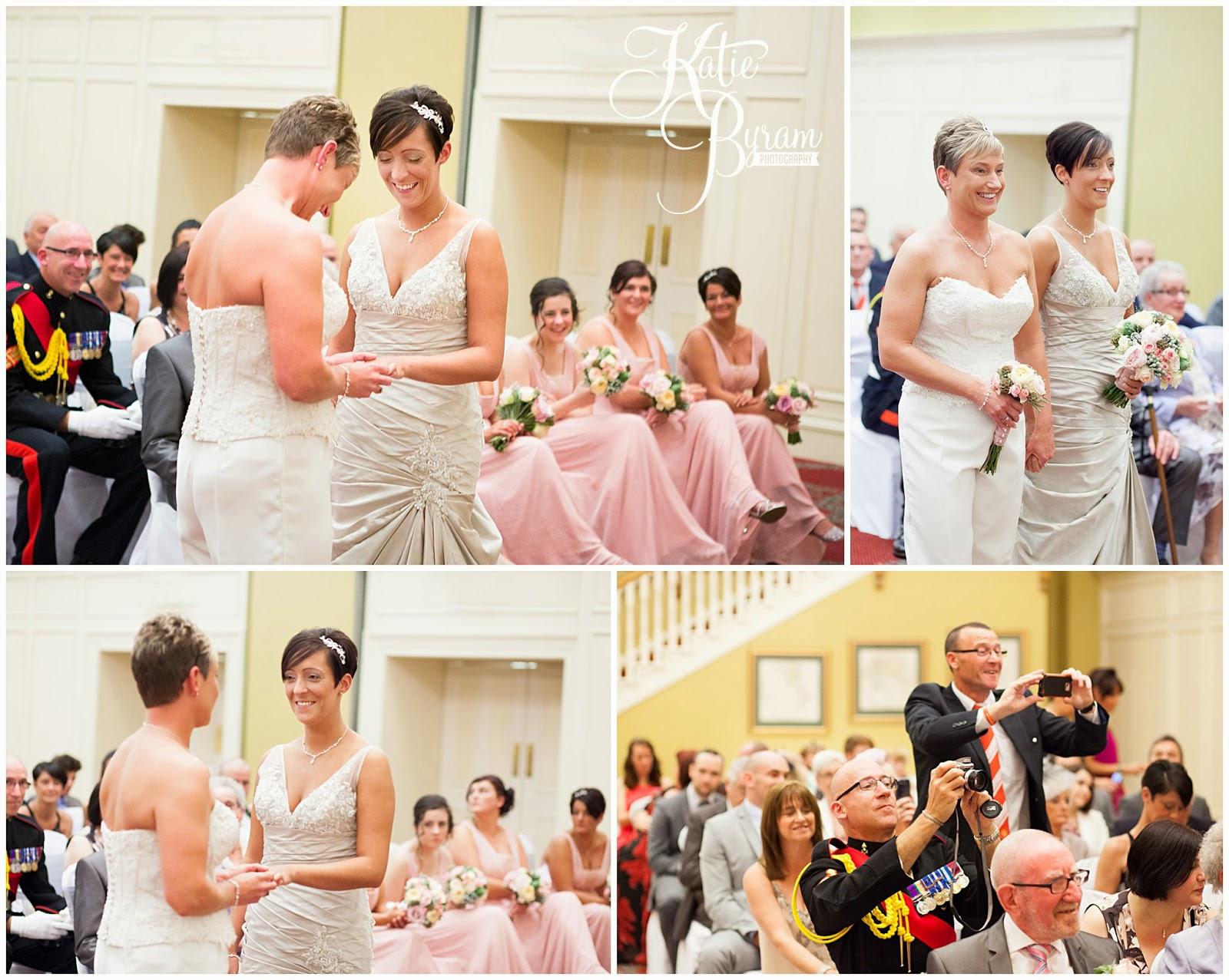 two bride wedding, lesbian wedding, lgbt wedding, gisborough hall wedding, north yorkshire wedding photographer, katie byram photographer, same-sex couples, bex bridal, elizabeth george bridal, north yorkshire wedding venues