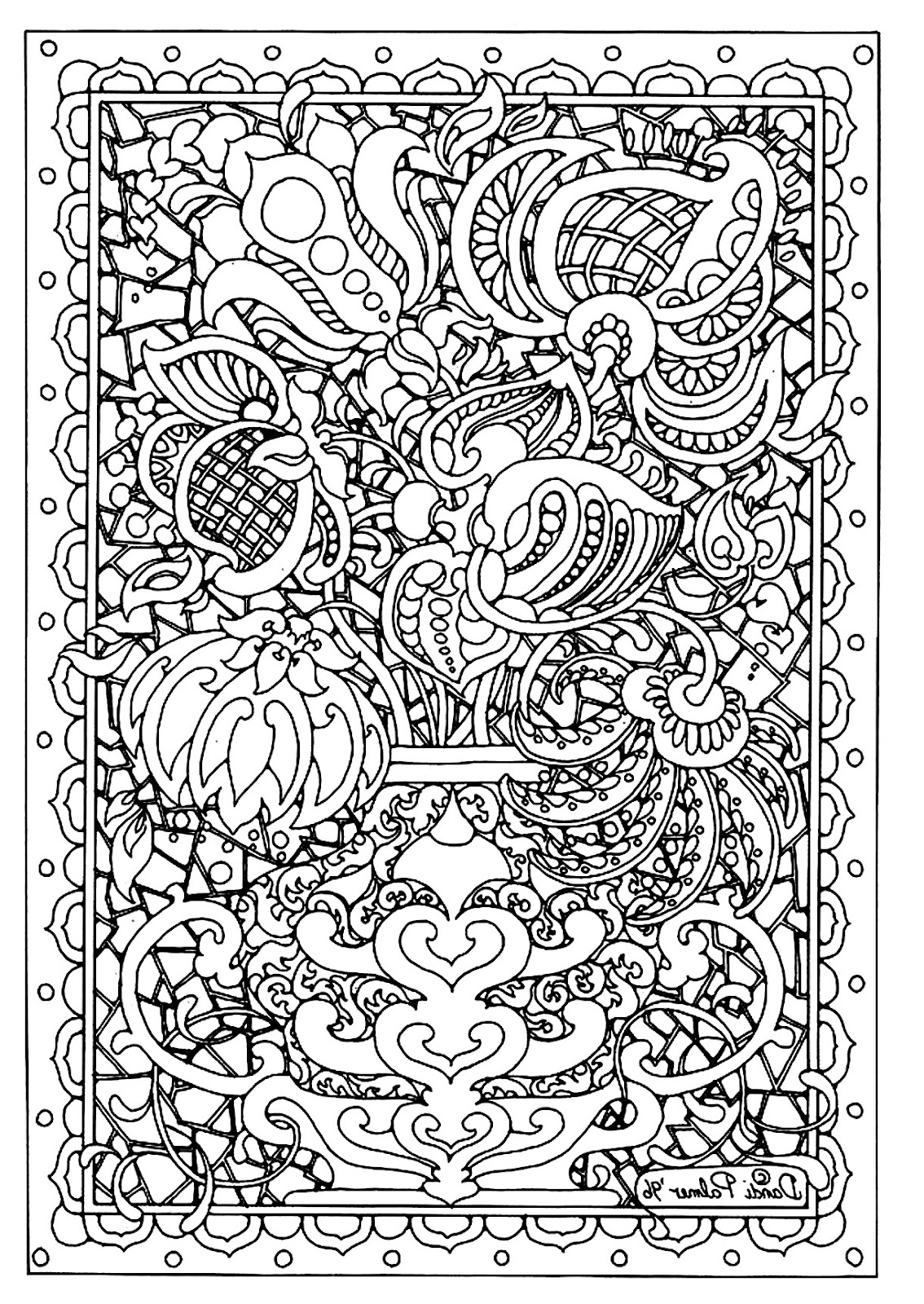 HD Difficult Coloring Sheets For Adults Free