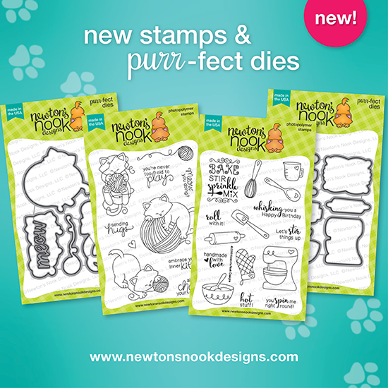 February Release: Newton Unwinds + Made from Scratch Stamps and dies | Newton's Nook Designs