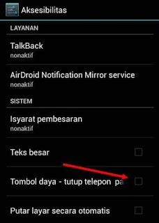 Cara Akhiri panggilan Dengan Tombol Power di android