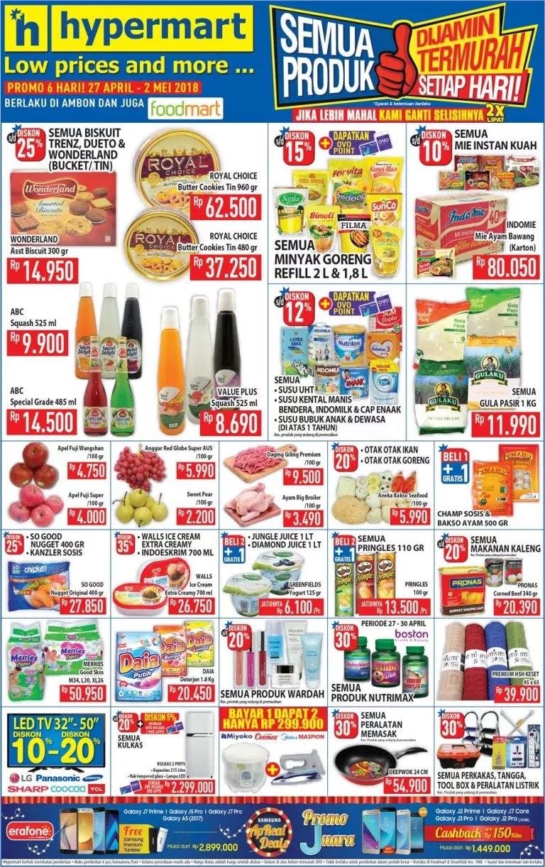Berikut ini adalah informasi penawaran lengkap Katalog Harga Promo Koran  Super Hemat dari Hypermart periode 27 April sampai dengan 02 Mei 2018. ad41739f25