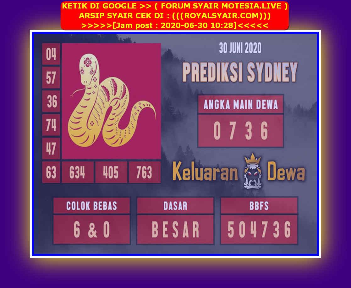 Kode syair Sydney Selasa 30 Juni 2020 169