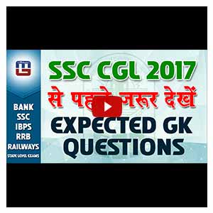 Expected Questions | Current Affairs | SSC CGL| 2017