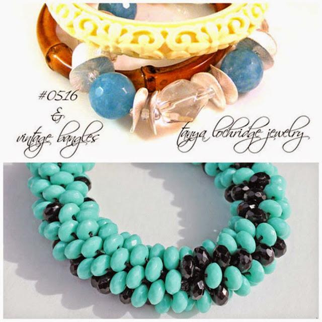 Tanya Lochridge Jewelry Angelite & Crystal Quartz Gemstone Bracelet