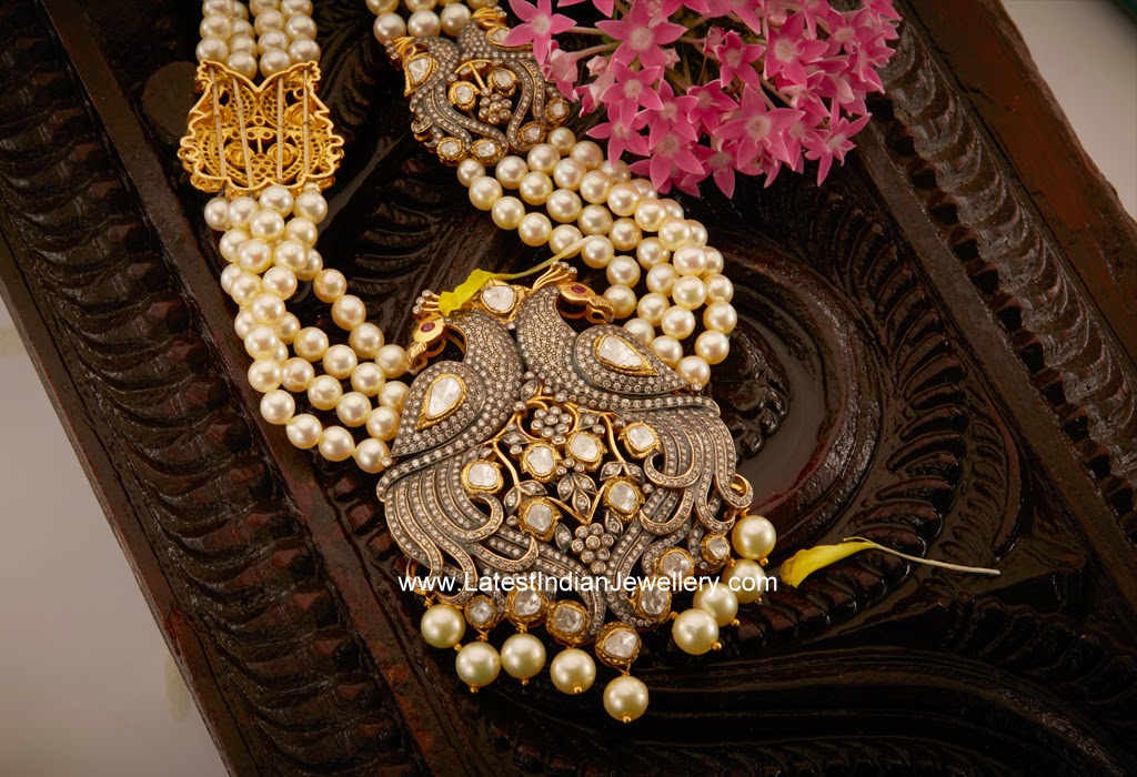 south sea pearls haram peacock pendant