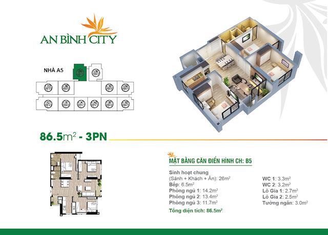 căn 86m2 chung cư An Bình City