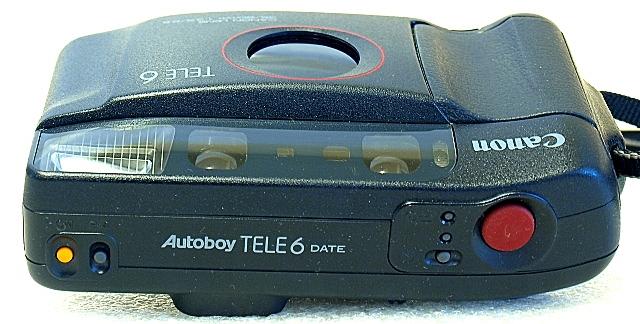 Canon Autoboy Tele 6, Top