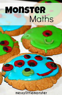 Monster biscuit maths counting activity