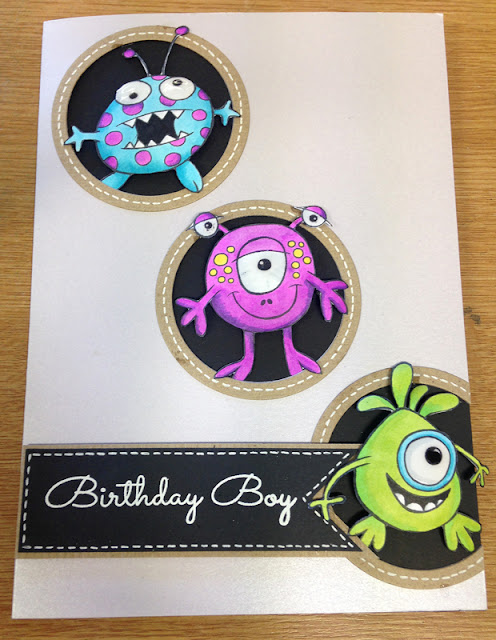 Alien Birthday Boy card