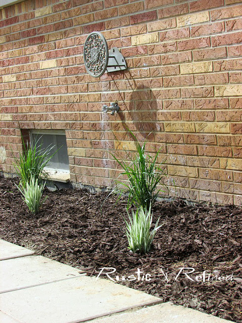 New garden bed added using native Indiana Grasses called Ribbon Grass and Reed Grass.