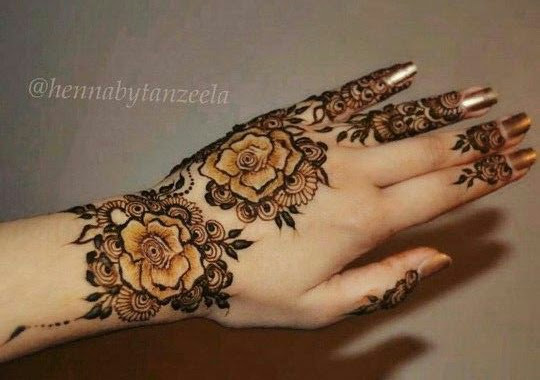 Flower Mehndi Designs For Back Hands : Latest shaded mehndi designs for all occasion