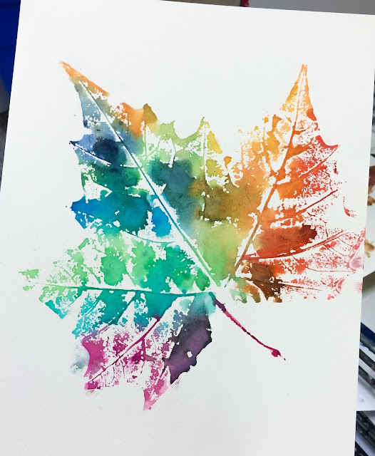 Art Ideas With Leaves: SmART Class: Fall'n In Love With Leaf Printing