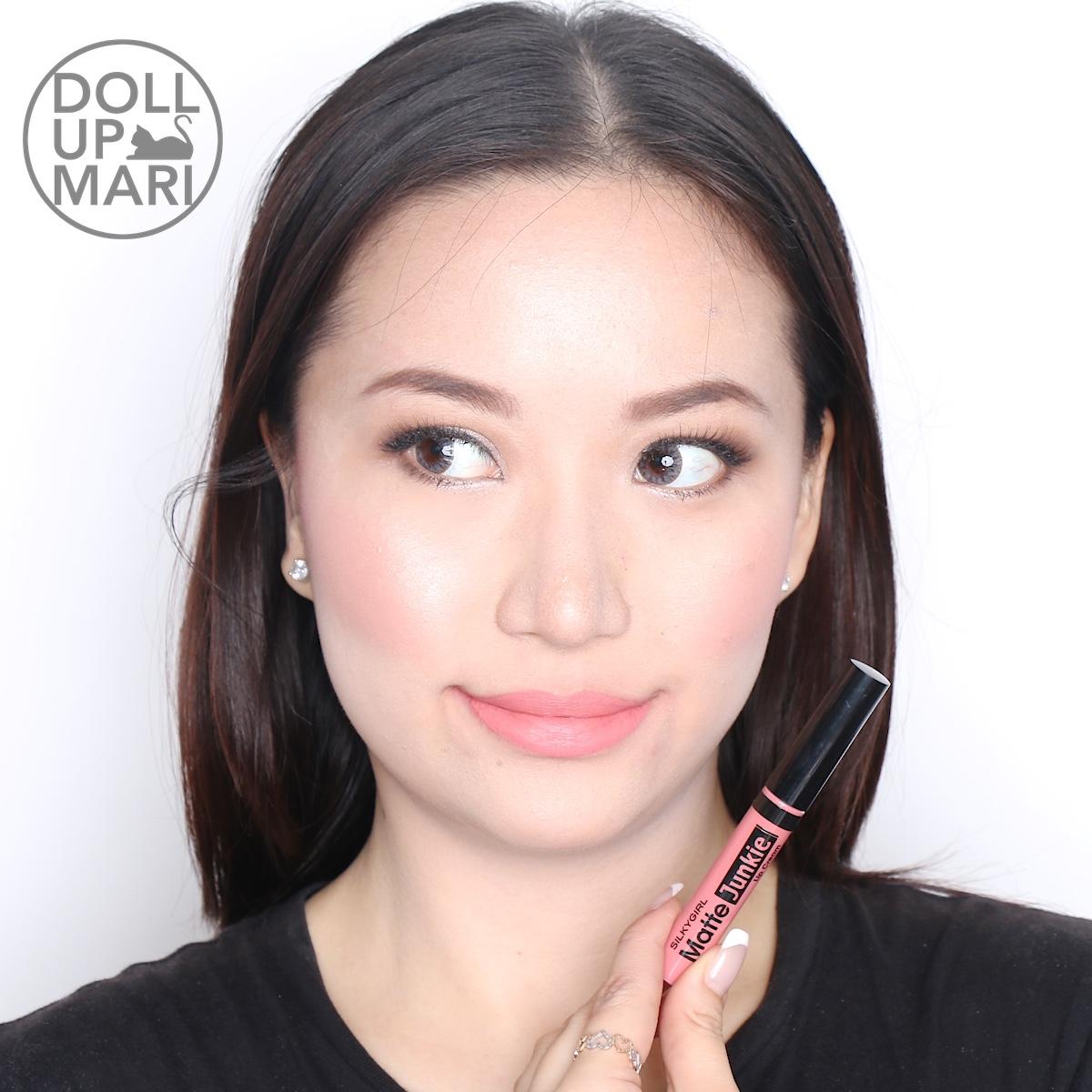 Silkygirl Matte Junkie Lip Cream 02 Glamour 5 8ml Daftar Harga Silky Girl 09 Rounge 405016 Wearing