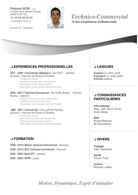 taille de la photo de cv sur word