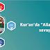 "Kur'an'da ""Allah yolunda savaşır."" ifadesi"