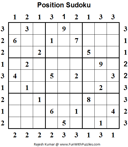 Position Sudoku (Daily Sudoku League #64)