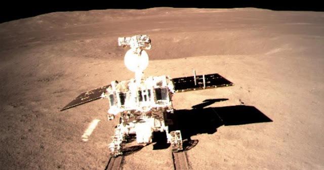 China's Yutu-2 rover on the moon. Credit: Xinhua