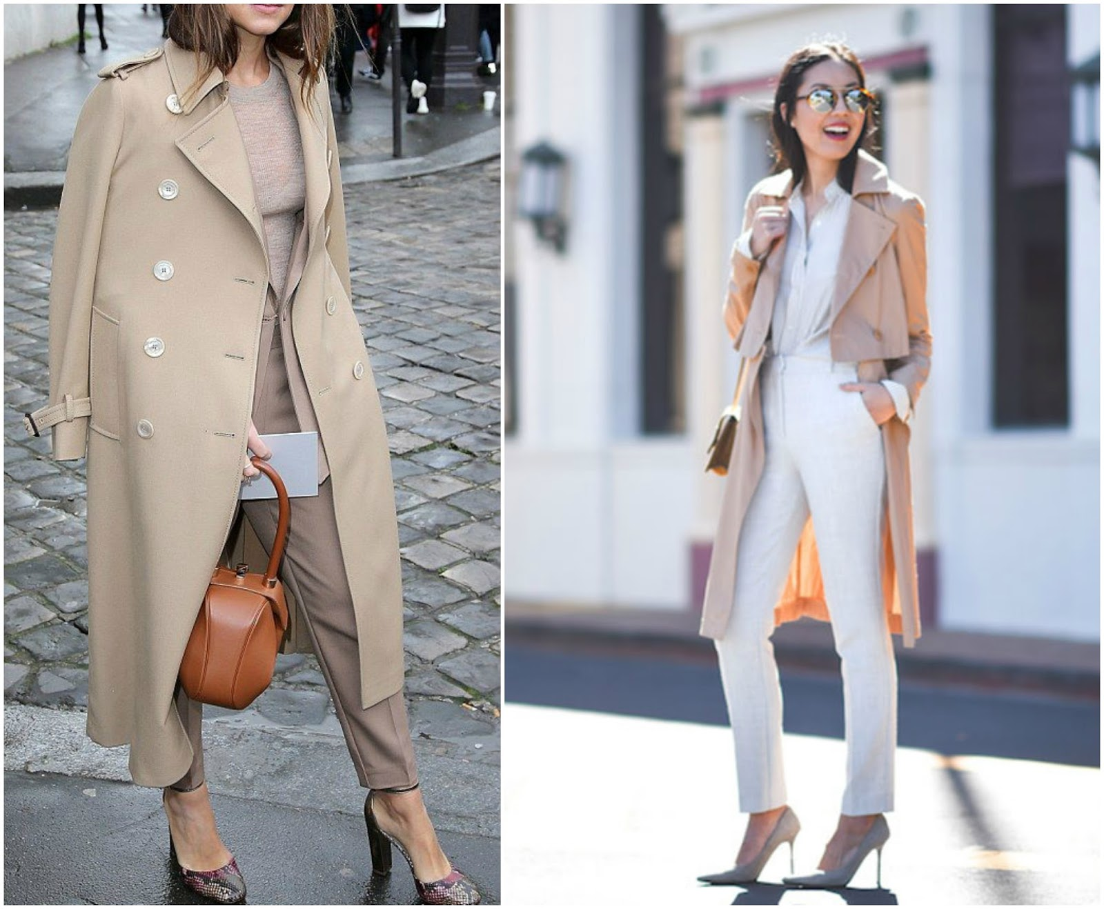 how to style a trench coat work wear smart formal details