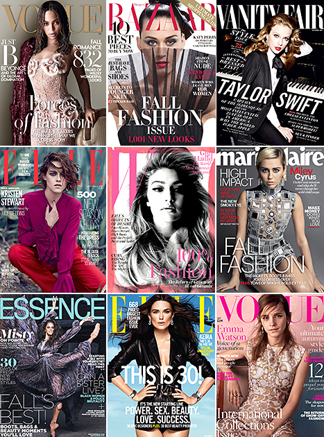 The September 2015 Issues See Beyonce, Katy Perry, Emma Watson, and More in the Cover Photos!