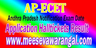 Andhra pradesh APECET Notification 2017 Online Application Examination Fee Payment Halltickets Result Counselling